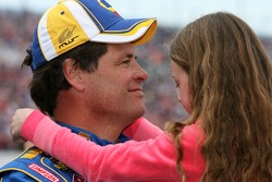 Michael Waltrip shares a moment with his daughter