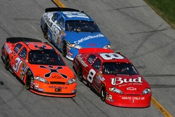 Dale Earnhardt Jr., Jeff Burton and Joe Nemechek
