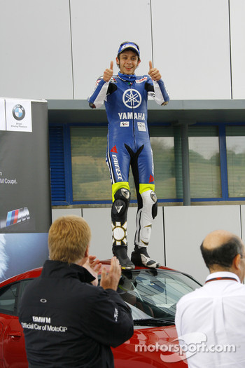 BMW M Award winner Valentino Rossi takes possession of his BMW M Coupé