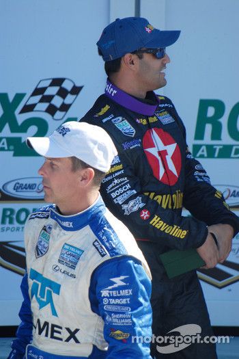 DP Podium: Winners Scott Pruett and Juan Pablo Montoya