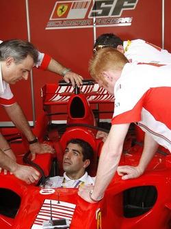 Marc Gene, test driver, Scuderia Ferrari, 248