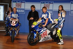 Colin Edwards, Luca de Meo and Valentino Rossi