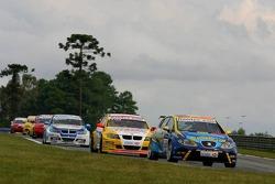 Pierre-Yves Corthals, SEAT Belgique and Monroe, SEAT Leon, Stefano D'Aste, Wiechers Sport BMW, BMW 320si WTCC