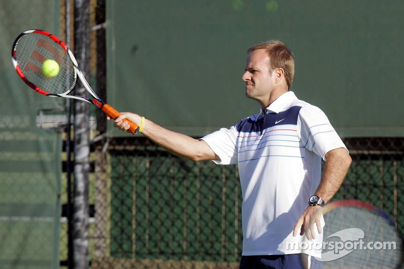 Formula One drivers charity tennis match: Rubens Barrichello Honda F1 Team