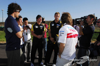 Jarno Trulli, Toyota Racing with AFL Players - Karting with Australian Football League Players