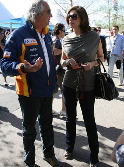 Flavio Briatore, Renault F1 Team, Team Chief, Managing Director and Slavica Ecclestone, Wife to Bernie Ecclestone