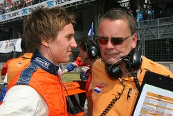 Renger van der Zande, Driver of A1Team Netherlands with David stubbs