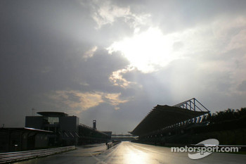 Wet track at Sepang Circuit