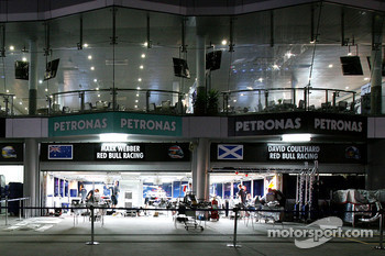 Red Bull Racing garage area