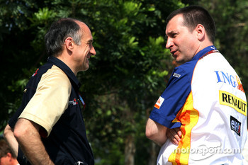 Franz Tost, Scuderia Toro Rosso, Team Principal and Rob White, Renault Engine Development