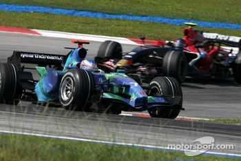 Jenson Button, Honda Racing F1 Team , Scott Speed, Scuderia Toro Rosso