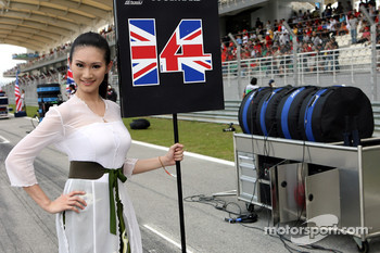 Grid girl of David Coulthard