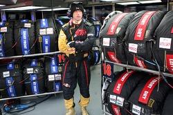 Scuderia Toro Rosso pit crew member in the garage