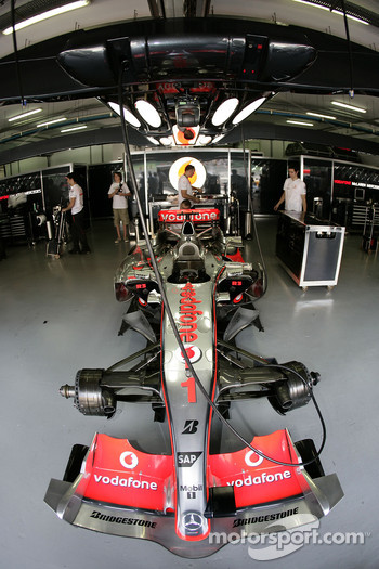 McLaren Mercedes garage area