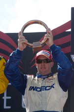 Paul Tracy celebrates