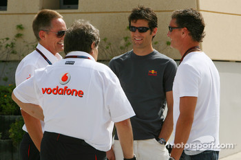 Martin Whitmarsh, McLaren, Chief Executive Officer, Norbert Haug, Mercedes, Motorsport chief, Mark Webber, Red Bull Racing and David Coulthard, Red Bull Racing