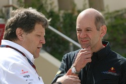 Norbert Haug, Mercedes, Motorsport chief and Adrian Newey, Red Bull Racing, Technical Operations Director