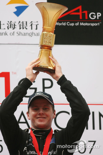 Podium, Jonny Reid, Driver of A1Team New Zealand