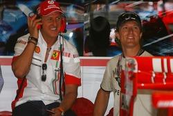 Michael Schumacher, Scuderia Ferrari, Advisor and Sete Gibernau, Former MotoGP Rider