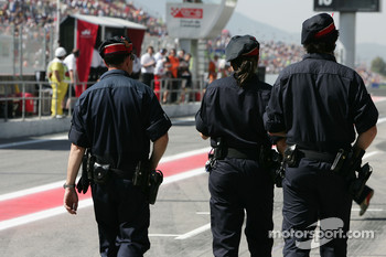 Police in the pitlane