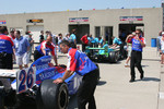 Cars wait for technical inspection