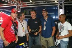 Sergio Ramos, Real Madrid, Football player, Carlos Sainz, Ex WRC World Champion, David Coulthard, Red Bull Racing and Roberto Carlos, Real Madrid, Football player