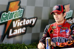 Post-race TV interview for race winner Jeff Gordon