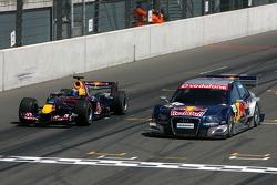 Demo with Michael Ammermuller, Red Bull Racing and Mattias Ekström, Audi Sport Team Abt Sportsline, Audi A4 DTM