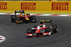 Daniel De Jong, MP Motorsport leads Jordan King, Racing Engineering
