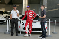 Chevrolet aero presentation: Sebastien Bourdais, KVSH Racing, Scott Dixon, Chip Ganassi Racing Chevrolet and Josef Newgarden, CFH Racing Chevrolet