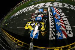 Kasey Kahne, JR Motorsports Chevrolet beats Erik Jones, Kyle Busch Motorsports Toyota to win