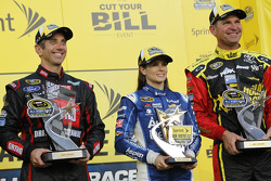 Segment one winner Greg Biffle, Roush Fenway Racing Ford, fan vote winner Danica Patrick, Stewart-Haas Racing Chevrolet, segment two winner Clint Bowyer, Michael Waltrip Racing Toyota
