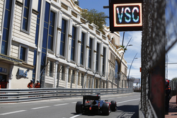 Stoffel Vandoorne, ART Grand Prix, passes under a 'VSC - Virtual Safety Car' board