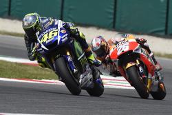 Valentino Rossi, Yamaha Factory Racing and Dani Pedrosa, Repsol Honda Team
