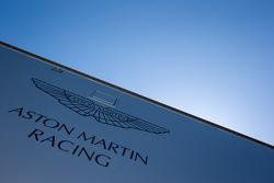 Aston Martin Racing transporter and logo / signage