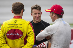 Landon Cassill, A.J. Allmendinger, Jamie McMurray wait out the rain delay