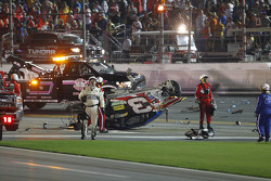 The wrecked car of Austin Dillon, Richard Childress Racing Chevrolet