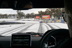 Snow at Mount Panorama
