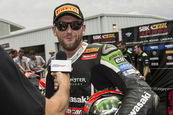 Second place Tom Sykes, Kawasaki Racing