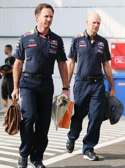 Christian Horner en Adrian Newey, Red Bull Racing