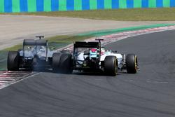 Lewis Hamilton, Mercedes AMG F1 Team and Felipe Massa, Williams F1 Team