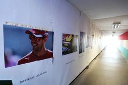 Sebastian Vettel, Ferrari added to the winners' wall
