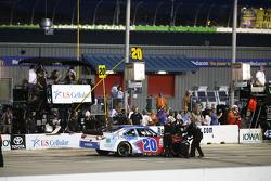 Kenny Wallace, Joe Gibbs Racing Toyota in the pits