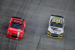 Justin Allgaier, HScott Motorsports Chevrolet and Josh Wise