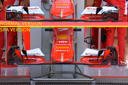 Ferrari front wing comparison