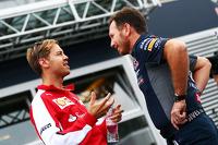 Formel 1 Fotos - Sebastian Vettel, Ferrari; Christian Horner, Red-Bull-Racing-Teamchef