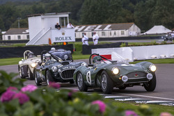Aston Martin DB3S 1954  and Cooper-Bristol T25 1953 racing in the Freddie March Memorial Trophy