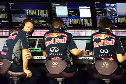 Christian Horner, Red Bull Racing teambaas op de pitmuur