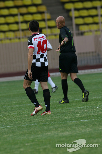 Star Team for Children VS National Team Drivers, Charity Football Match, Louis II StadiumAlbert II: Giancarlo Fisichella, Renault F1 Team