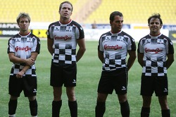 Star Team for Children VS National Team Drivers, Charity Football Match, Louis II StadiumAlbert II: Felipe Massa, Scuderia Ferrari, Robert Doornbos, Test Driver, Red Bull Racing and Sam Bird